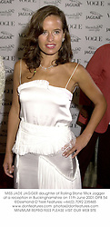 MISS JADE JAGGER daughter of Rolling Stone Mick Jagger at a reception in Buckinghamshire on 11th June 2001.OPB 54