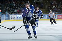 KELOWNA, CANADA - JANUARY 2:  Jordan Fransoo #4 of the Victoria Royals skates on the ice at the Kelowna Rockets on January 2, 2013 at Prospera Place in Kelowna, British Columbia, Canada. Fransoo is a 2011 NHL entry draft pick of the Ottawa Senators. (Photo by Marissa Baecker/Shoot the Breeze) *** Local Caption ***