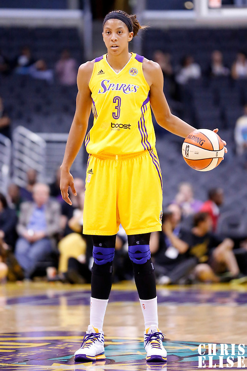 19 June 2014: Los Angeles Sparks forward/center Candace Parker (3) is seen during the Los Angeles Sparks 87-77 victory over the Tulsa Shock, at the Staples Center, Los Angeles, California, USA.