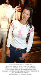 TV presenter KIRSTY GALLACHER  at a party in London on 1st October 2003.PNG 20