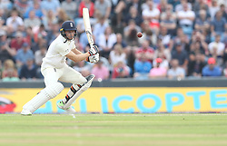 England's Jos Buttler hits out from the bowling of Pakistan's Shadab Khan during day two of the Second Natwest Test match at Headingley, Leeds.