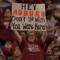21 December 2008:  A Troy fan in the stands holds up a sign during 30-27 overtime victory by the Southern Mississippi Golden Eagles over the Troy Trojans in the  R+L Carriers New Orleans Bowl at the New Orleans Superdome in New Orleans, LA.