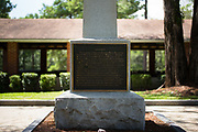 MARBURY, AL – AUGUST 17, 2017: A monument stands in the honor of Captain Jefferson Manly Falkner of the 8th Confederate Regiment at the Confederate Memorial Park of Alabama.