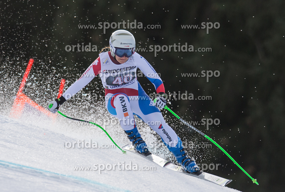 06.02.2016, Kandahar, Garmisch Partenkirchen, GER, FIS Weltcup Ski Alpin, Abfahrt, Damen, im Bild Priska Nufer (SUI) // Priska Nufer of Switzerland competes during the ladies Downhill of Garmisch FIS Ski Alpine World Cup at the Kandahar course in Garmisch Partenkirchen, Germany on 2016/02/06. EXPA Pictures © 2016, PhotoCredit: EXPA/ Johann Groder