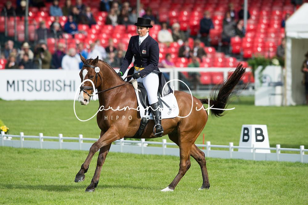 Stretton Sarah, (GBR), Skip On<br /> Dressage <br /> Mitsubishi Motors Badminton Horse Trials - Badminton 2015<br /> &copy; Hippo Foto - Jon Stroud<br /> 07/05/15