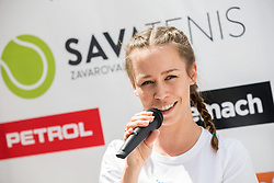Alja Krajnc at Press conference 2 weeks before ATP Challenger Zavarovalnica Sava Slovenia Open 2017, on July 16, 2017 in TC Breskvar, Ljubljana, Slovenia. Photo by Vid Ponikvar / Sportida