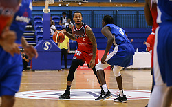 Gentry Thomas of Bristol Flyers dribbles with the ball - Photo mandatory by-line: Arron Gent/JMP - 28/09/2019 - BASKETBALL - Crystal Palace National Sports Centre - London, England - London City Royals v Bristol Flyers - British Basketball League Cup