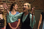 "JULY 8, 2018  LANCASTER, OHIO:<br /> <br /> Jennifer Myers, playing the lead role in ""Hello, Dolly,"" practices singing a solo during warm ups backstage in the Wagner Theater during a rehearsal for the production of ""Hello, Dolly!"" at Ohio University Lancaster."