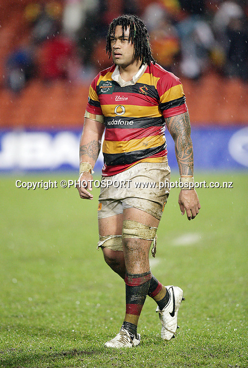 Waikato's Sione Lauaki after the Air New Zealand Cup rugby union match between Waikato and Counties Manukau at Waikato Stadium, won 23-20 by Waikato, in Hamilton, on Saturday 26 August 2006. Photo: Stephen Barker/PHOTOSPORT<br /> <br /> <br /> 260806 week 5 five NZ NPC