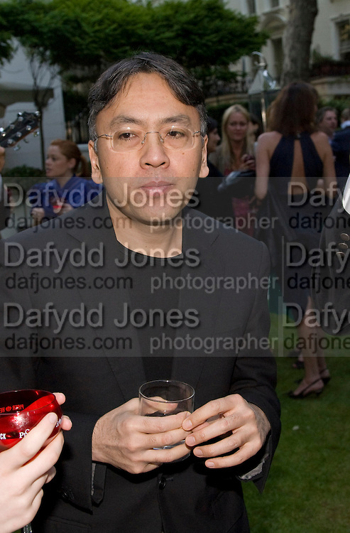 KAZUO ISHIGURO, Tatler Summer Party. The Hempel. Craven Hill Gdns. London. 25 June 2008 *** Local Caption *** -DO NOT ARCHIVE-© Copyright Photograph by Dafydd Jones. 248 Clapham Rd. London SW9 0PZ. Tel 0207 820 0771. www.dafjones.com.