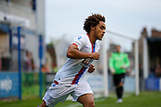 Reise Allassani in action during the Pre-Season Friendly match between Hampton & Richmond and Crystal Palace at Beveree Stadium, Richmond Upon Thames, United Kingdom on 27 July 2015. Photo by Michael Hulf.