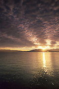 Sunrise over Lake Tahoe as seen from the west shore.
