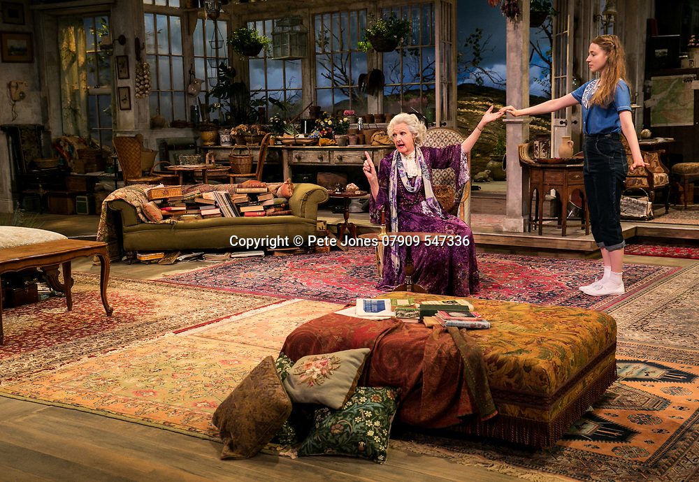 The Chalk Garden by Enid Bagnold;<br /> Directed by Alan Strachan;<br /> Penelope Keith (as Mrs St Maugham);<br /> Emma Curtis (as Laurel);<br /> Chichester Festival Theatre, Chichester;<br /> 30 May 2018.<br /> © Pete Jones<br /> pete@pjproductions.co.uk