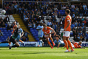 Coventry City midfielder (on loan from Aston Villa) Callum O'Hare (17)scores a goal from open play 3-2 during the EFL Sky Bet League 1 match between Coventry City and Blackpool at the Trillion Trophy Stadium, Birmingham, England on 7 September 2019.
