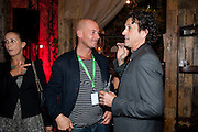 STEPHEN WEBSTER, STEVE LAZARIDES LAUNCHES ÔMINOTAURÕ Ð A LABYRINTHINE EXHIBITION TAKING OVER THE OLD VIC TUNNELS OVER FRIEZE WEEK FROM 11-25 OCTOBER. Waterloo. London. 10 October 2011. <br /> <br />  , -DO NOT ARCHIVE-© Copyright Photograph by Dafydd Jones. 248 Clapham Rd. London SW9 0PZ. Tel 0207 820 0771. www.dafjones.com.<br /> STEPHEN WEBSTER, STEVE LAZARIDES LAUNCHES 'MINOTAUR' – A LABYRINTHINE EXHIBITION TAKING OVER THE OLD VIC TUNNELS OVER FRIEZE WEEK FROM 11-25 OCTOBER. Waterloo. London. 10 October 2011. <br /> <br />  , -DO NOT ARCHIVE-© Copyright Photograph by Dafydd Jones. 248 Clapham Rd. London SW9 0PZ. Tel 0207 820 0771. www.dafjones.com.