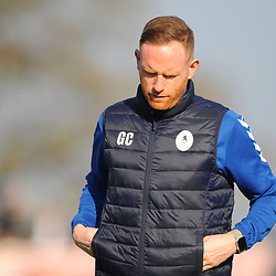 TELFORD COPYRIGHT MIKE SHERIDAN 23/2/2019 - Telford boss Gavin Cowan during the FA Trophy quarter final fixture between Solihull Moors and AFC Telford United at the Automated Technology Group Stadium