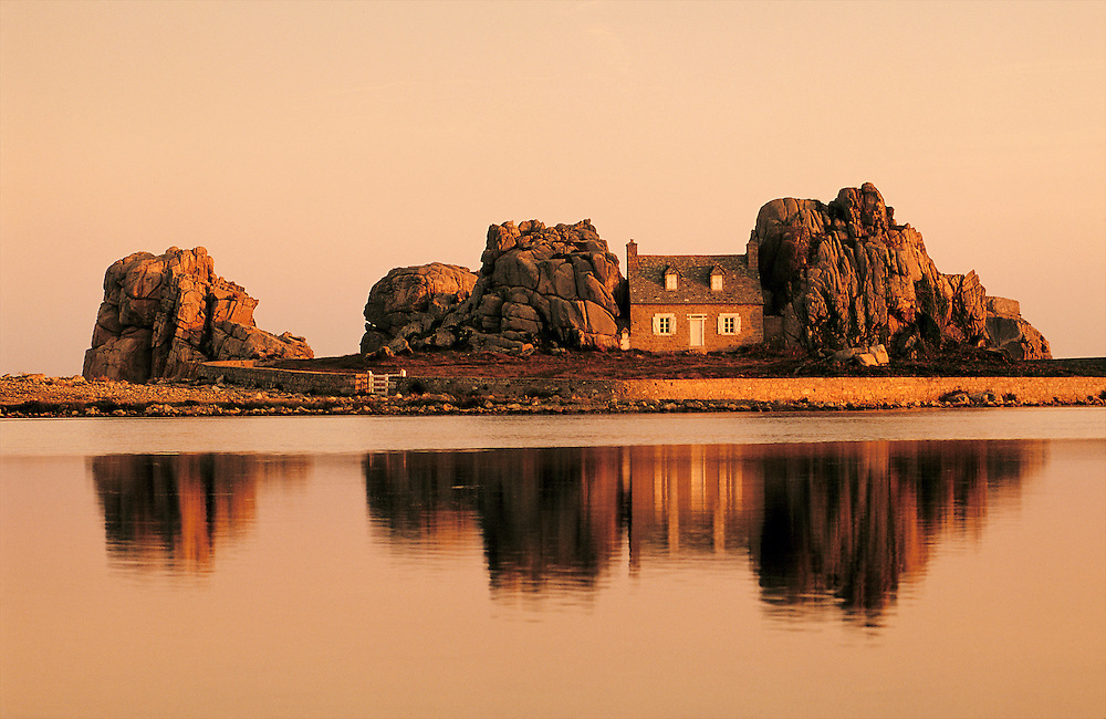 House on the north coast of Brittany, France.