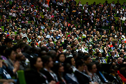 © Licensed to London News Pictures. 20/07/2014. The audience during the official opening ceremony of the 20th International AIDS conference held in Melbourne Australia on July 20, 2014. This conference takes place a few days after the death of a number of high profile delegates and researchers due to attend whom flew on Malaysian Airlines flight MH17. Photo credit : Asanka Brendon Ratnayake/LNP