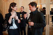 ELIZABETH MCGOVERN; JOHNNY YEO; , Imogen Edwards-Jones - book launch party for ' Hospital Confidential' Mandarin Oriental Hyde Park, 66 Knightsbridge, London, 11 May 2011. <br />  <br /> -DO NOT ARCHIVE-© Copyright Photograph by Dafydd Jones. 248 Clapham Rd. London SW9 0PZ. Tel 0207 820 0771. www.dafjones.com.