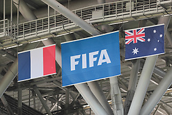 June 16, 2018 - Kazan, U.S. - KAZAN, RUSSIA - JUNE 16: A Group C 2018 FIFA World Cup soccer match between France and Australia on June 16, 2018, at the Kazan Arena in Kazan, Russia. (Photo by Anatoliy Medved/Icon Sportswire) (Credit Image: © Anatoliy Medved/Icon SMI via ZUMA Press)
