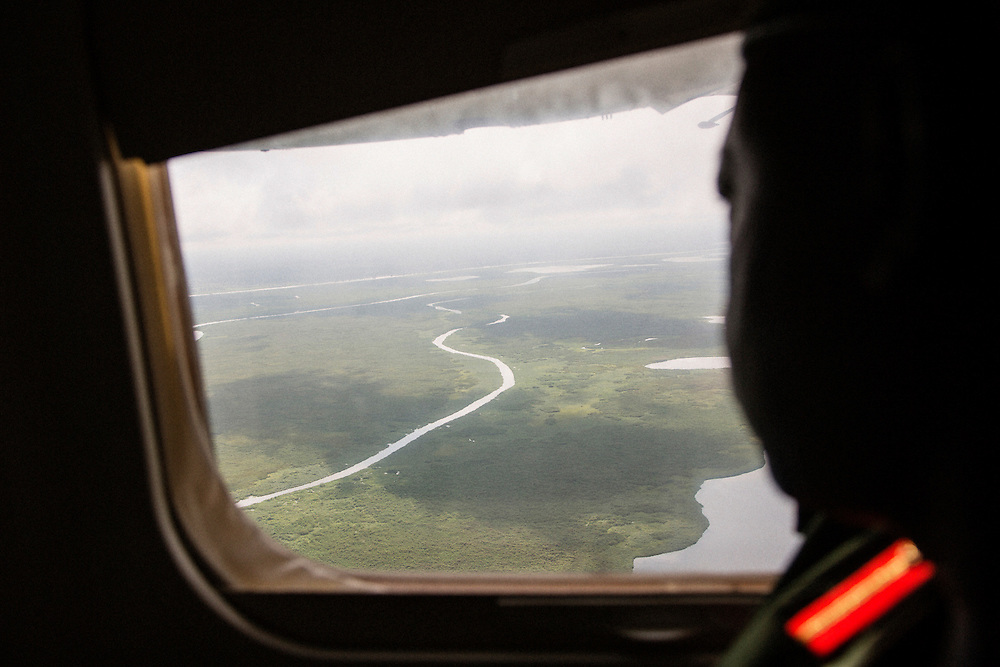 Airborne photographs of the Nile River and beginning of the Sud on a flight from Juba to Bor, South Sudan.