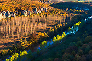 The canyon of Vit river in autumn