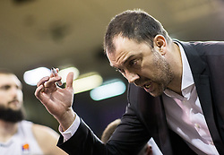 Nenad Canak, coach of Partizan NIS during basketballl match between KK Petrol Olimpija Ljubljana and KK Partizan NIS mts in Round #20 of ABA League 2017/18, on February 10, 2018 in Tivoli sports hall, Ljubljana, Slovenia. Photo by Vid Ponikvar / Sportida