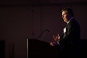Robert McCauley of Finnegan presents during the Bay Area Corporate Counsel Awards at The Westin San Francisco Airport in Millbrae, California, on March 18, 2019. (Stan Olszewski for Silicon Valley Business Journal)