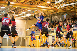 30.03.2019, Sporthalle Leoben Donawitz, Leoben, AUT, spusu HLA, Union JURI Leoben vs Sparkasse Schwaz Handball Tirol, Qualifikationsrunde, 9. Spieltag, im Bild v.l.: Damir Djukic (Union JURI Leoben, Trainer), Armin Hochleitner (Sparkasse Schwaz Handball Tirol) // during the spusu Handball League Austria qualification round, 9th round match between Union JURI Leoben and Sparkasse Schwaz Handball Tirol at the Sporthalle Leoben Donawitz in Leoben, Austria on 2019/03/30. EXPA Pictures © 2019, PhotoCredit: EXPA/ Dominik Angerer