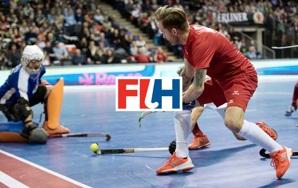 BERLIN - Indoor Hockey World Cup<br /> Quarterfinal 2: Austria - Poland<br /> foto: Artur Mikula <br /> WORLDSPORTPICS COPYRIGHT FRANK UIJLENBROEK