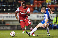 Picture by David Horn/Focus Images Ltd +44 7545 970036.16/10/2012.Moses Odubajo of Leyton Orient during the npower League 1 match at the Matchroom Stadium, London.
