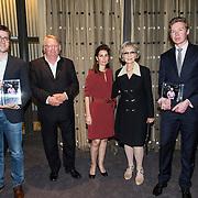 NLD/Amsterdam/201400414 - Uitreiking Erik Hazelhoff Jong Talentprijs en Biografieprijs door prinses Anita Sekreve, weduwe Karin Hazelhoff Roelfzema, Rick Honings en Peter van Zonneveld zijn de winnaars van de Erik Hazelhoff Biografieprijs 2014 en winnaar Wiebe de Graaf