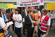 Protest of VHS teachers in Berlin