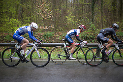 Ashleigh Moolmann-Pasio (RSA) of Cervélo-Bigla Cycling Team digs deep in the last lap of the first, 106.9km road race stage of Elsy Jacobs - a stage race in Luxembourg, in Steinfort on April 30, 2016