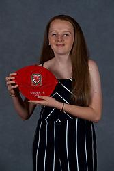 NEWPORT, WALES - Saturday, May 19, 2018: Mia Rawling during the Football Association of Wales Under-16's Caps Presentation at the Celtic Manor Resort. (Pic by David Rawcliffe/Propaganda)