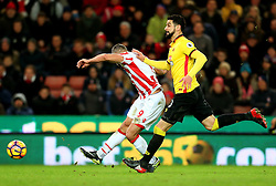Jonathan Walters of Stoke City fires a shot at goal  - Mandatory by-line: Matt McNulty/JMP - 03/01/2017 - FOOTBALL - Bet365 Stadium - Stoke-on-Trent, England - Stoke City v Watford - Premier League
