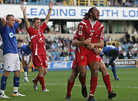 Photo: Rich Eaton.<br /> <br /> Millwall v Swindon Town. Coca Cola League 1. 29/09/2007. Swindon's Jerel Ifil celebrates after heading in a second half goal to make it 2-1.