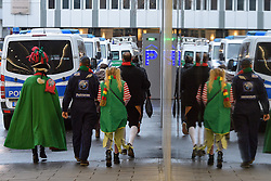 23.02.2017, Koeln, GER, Karneval, Weiberfastnacht, im Bild Mannschaftswagen hinter dem Dom // during Women's Night of Cologne Carnival 2017. Koeln, Germany on 2017/02/23. EXPA Pictures © 2017, PhotoCredit: EXPA/ Eibner-Pressefoto/ Schueler<br /> <br /> *****ATTENTION - OUT of GER*****