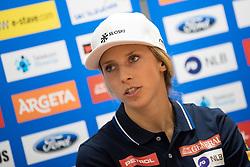 Ana Bucik at press conference of Slovenian Alpine Ski Team, on September 11, 2017 in Smucarska zveza Slovenije, Ljubljana, Slovenia. Photo by Matic Klansek Velej / Sportida
