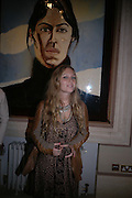 Josephine La Baume. Pintura del Siglo XXI - Julian Schnabel exhibition. ROBILANT + VOENA, Dover St. London. 19  October 2005. ONE TIME USE ONLY - DO NOT ARCHIVE © Copyright Photograph by Dafydd Jones 66 Stockwell Park Rd. London SW9 0DA Tel 020 7733 0108 www.dafjones.com