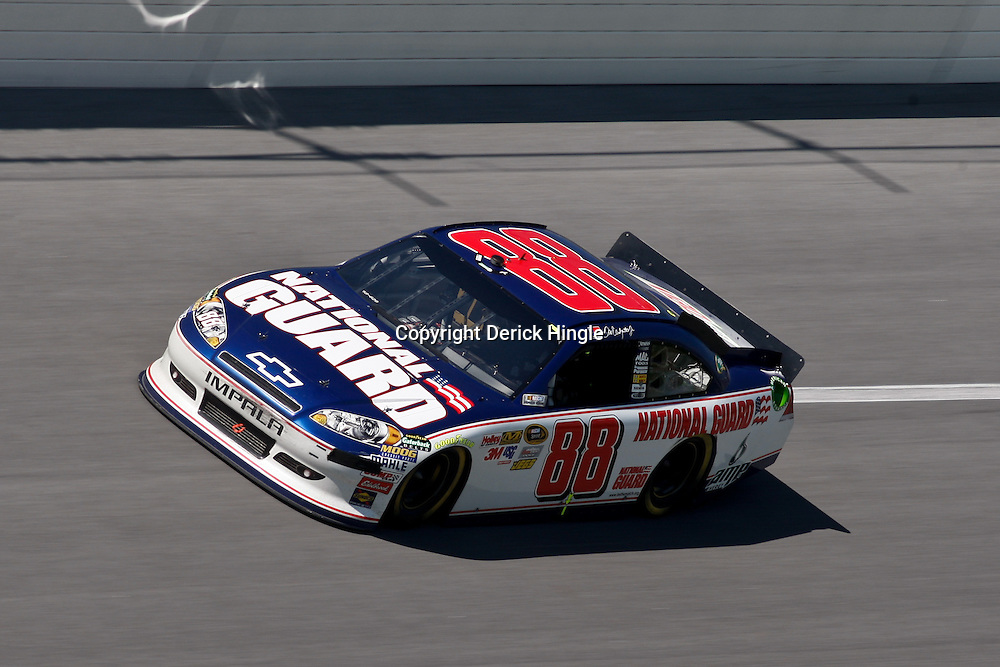 April 17, 2011; Talladega, AL, USA; NASCAR Sprint Cup Series driver Dale Earnhardt Jr. (88) during the Aarons 499 at Talladega Superspeedway.   Mandatory Credit: Derick E. Hingle