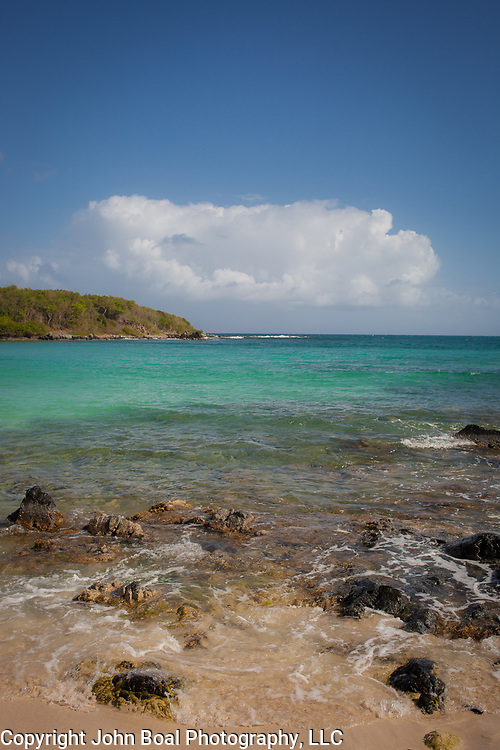 Island of Vieques off the coast of mainland Puerto Rico