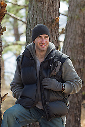 handsome rugged outdoorsman smiling