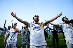 Robbie Willmott of Newport County celebrates winning through to the Sky Bet League Two Playoff Final - Mandatory by-line: Robbie Stephenson/JMP - 12/05/2019 - FOOTBALL - One Call Stadium - Mansfield, England - Mansfield Town v Newport County - Sky Bet League Two Play-Off Semi-Final 2nd Leg