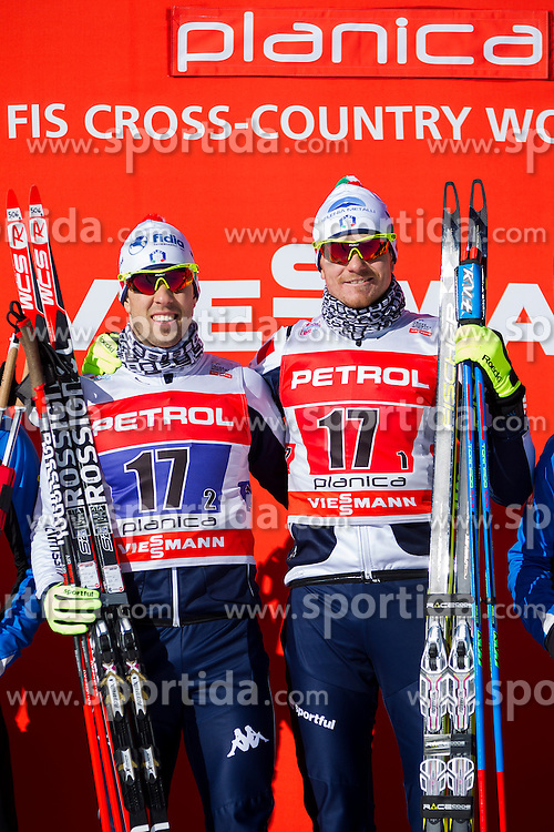 Winners Frederico Pellegrino/Dietmar Noeckler (ITA) ) during the Man team sprint race at FIS Cross Country World Cup Planica 2016, on January 17, 2016 at Planica, Slovenia. Photo By Urban Urbanc / Sportida