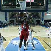 Grand Rapids Drive Center Hasheem Thabeet (34) dunks the ball in the second half of a NBA D-league regular season basketball game between the Delaware 87ers and the Grand Rapids Drive (Detroit Pistons) Friday, Jan. 09, 2015 at The Bob Carpenter Sports Convocation Center in Newark, DEL