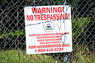 Superfund site contaminated with creosote in Pensacola Florida