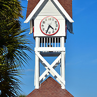 Clock Tower on City Pier in Bradenton Beach, Florida<br />
