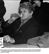 Poet, Gregory Corso at the Gagosian Gallery. New York. January 1993. Film 9355f30<br /> © Copyright Photograph by Dafydd Jones<br /> 66 Stockwell Park Rd. London SW9 0DA<br /> Tel 0171 733 0108
