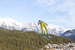 16.01.2011, Casino Arena, Seefeld, AUT, FIS World Cup, Nordic Combined, Probedurchgang, im Bild Felix Gottwald (AUT) , during Nordic Combined at Casino Arena in Seefeld, Austria on 15/1/2011, EXPA Pictures © 2011, PhotoCredit: EXPA/ P. Rinderer